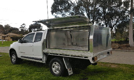 Premium Aluminum Tray with Aluminum Canopy Holden Colorado